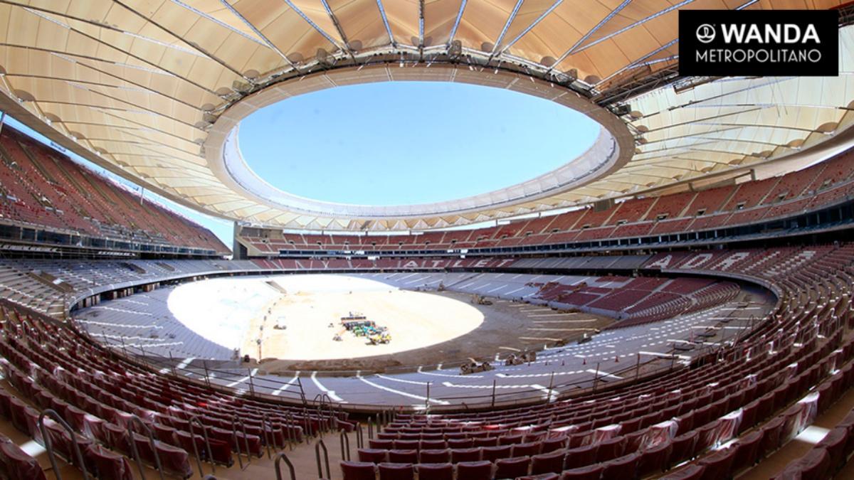 La cubierta del Wanda Metropolitano ya está colocada