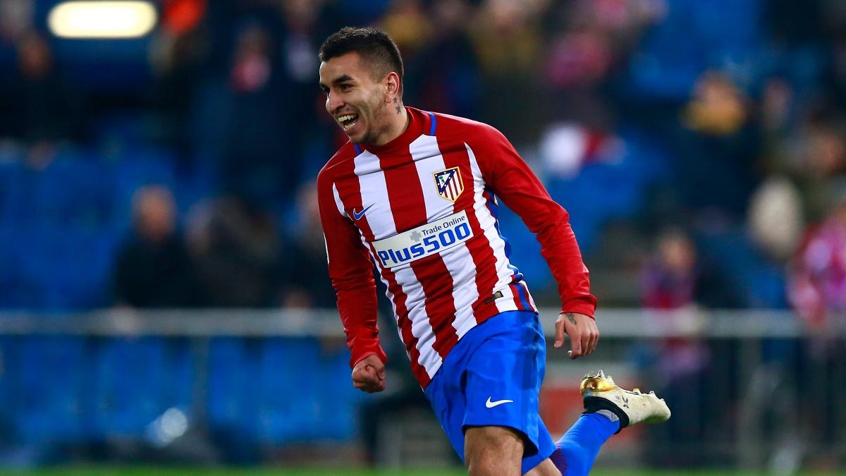 Ángel Correa celebra un tanto con el Atlético de Madrid