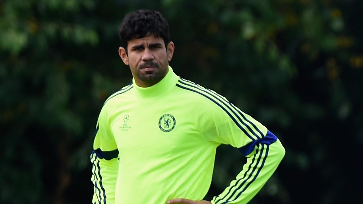 Diego Costa, durante un entrenamiento con el Chelsea