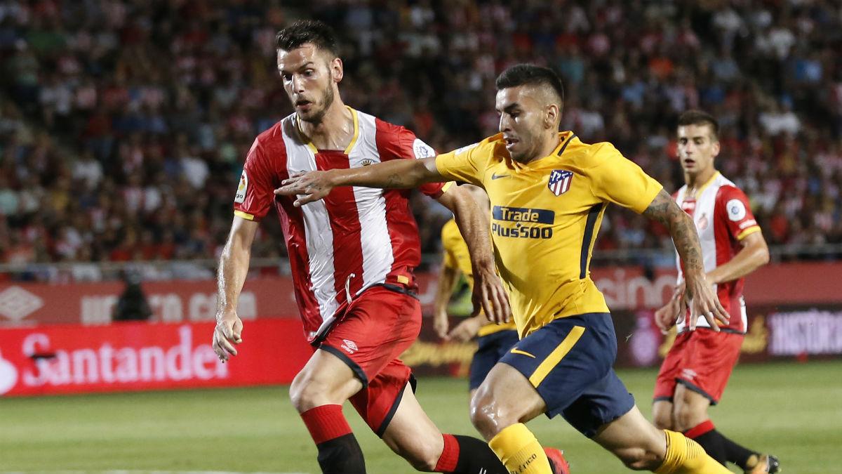 Correa anotó el primer gol del Atlético. (AFP)
