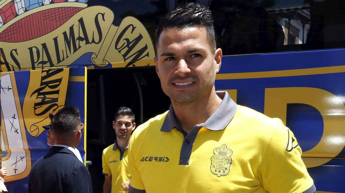 Vitolo, luciendo los colores de Las Palmas. (EFE)
