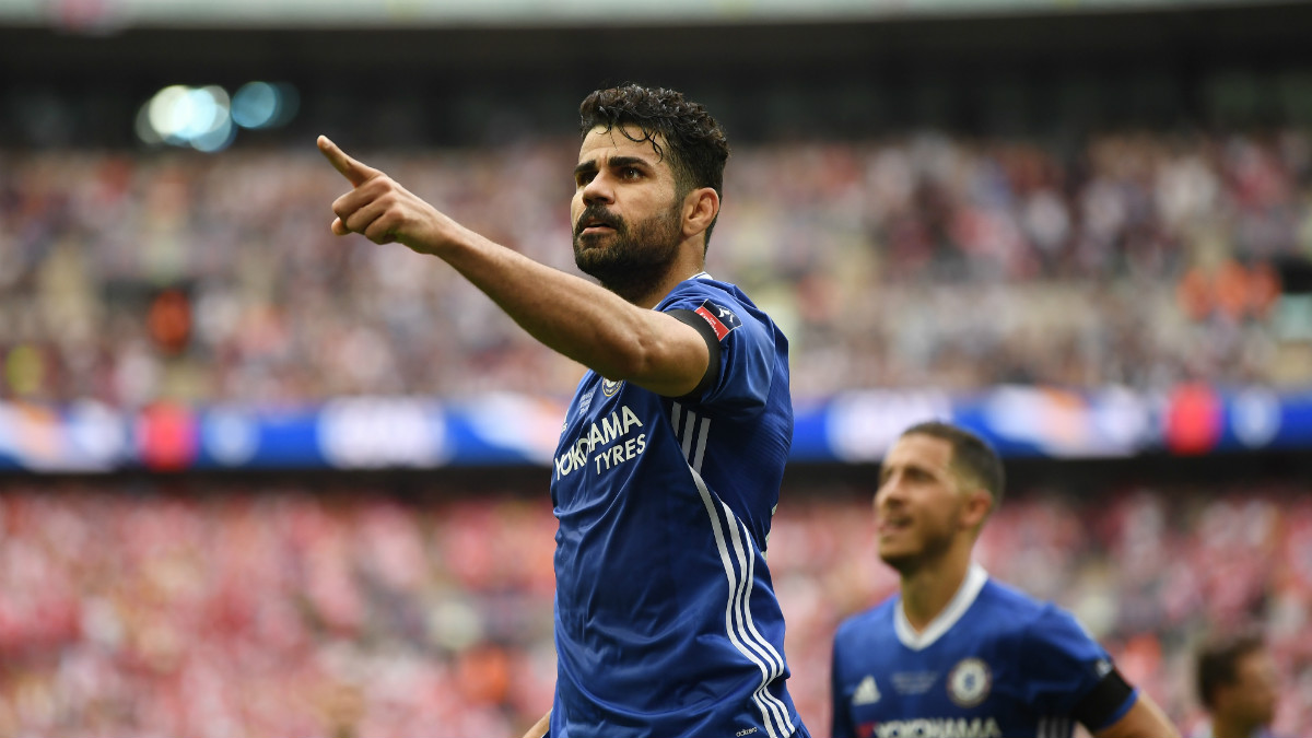 Diego Costa celebra un gol con el Chelsea. (Getty)