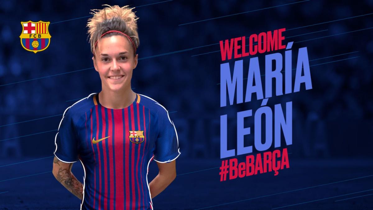 El Barcelona le da la bienvenida a Mapi León
