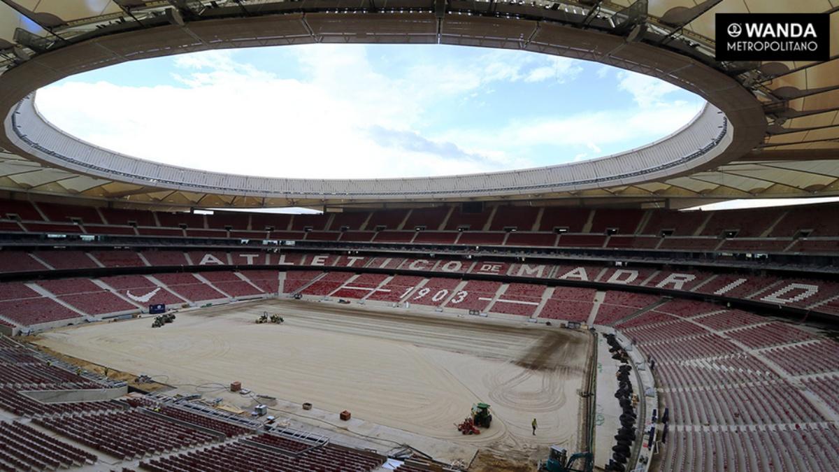 Así está el Wanda Metropolitano a falta de dos semanas para su inauguración
