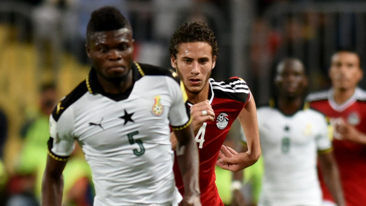 Thomas durante un partido con Ghana. (AFP)