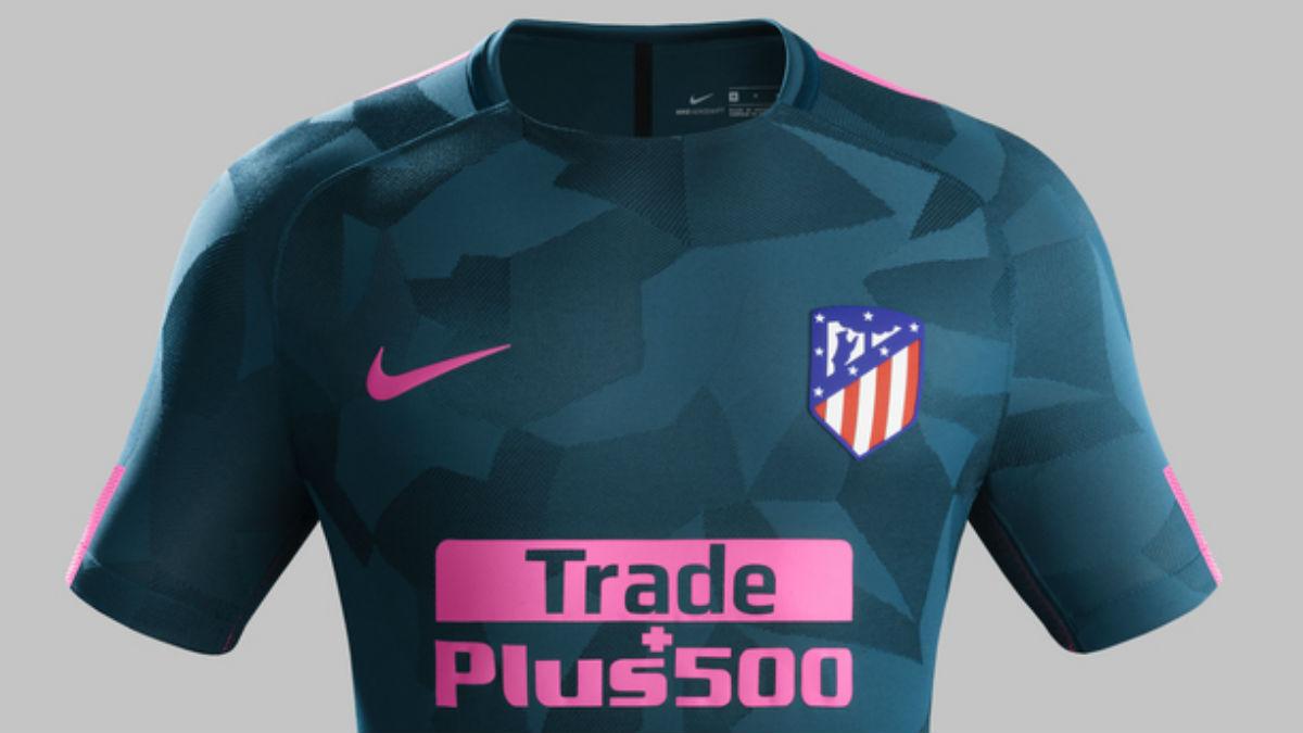 Tercera camiseta del Atlético de Madrid.