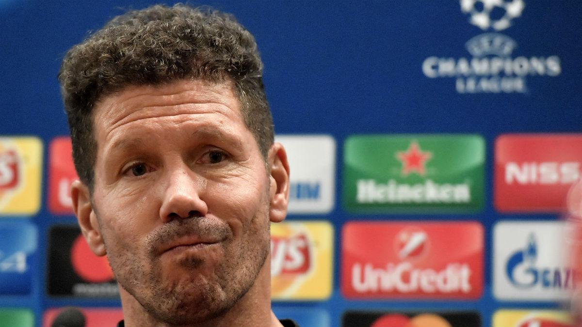Simeone durante una rueda de prensa. (AFP)