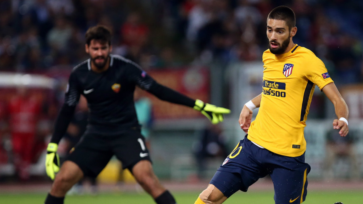 Carrasco cumplió 100 partidos ante la Roma. (atleticodemadrid.com)