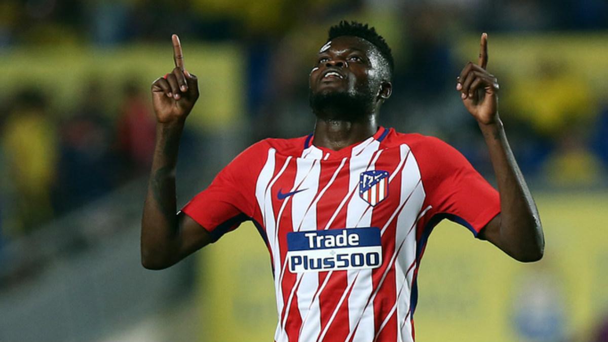 Thomas celebra su gol ante Las Palmas. (atleticodemadrid.com)