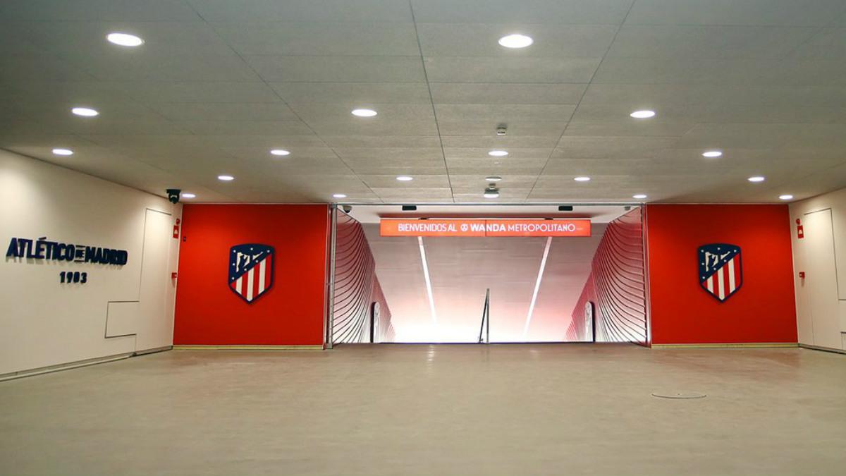 Así luce el tunel de vestuarios del Metropolitano. (atleticodemadrid.com)