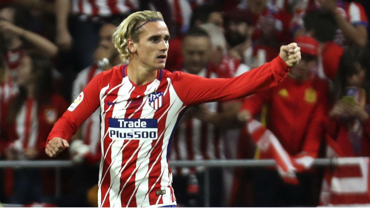 Griezmann anotó el gol de la victoria del Atlético ante el Málaga. (EFE)