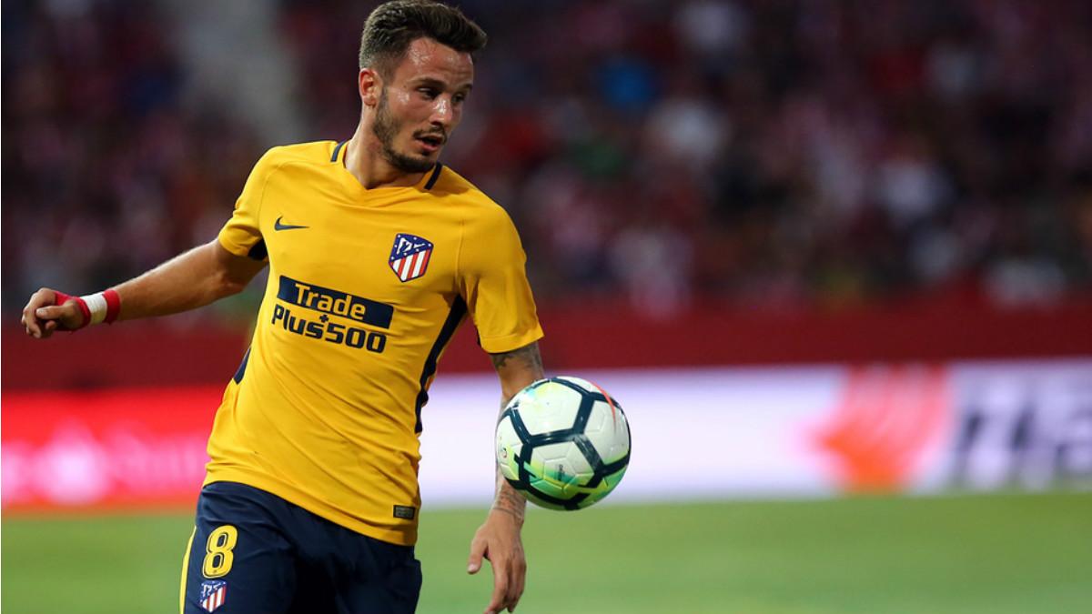 Saúl durante un partido con el Atlético esta temporada. (atleticodemadrid.com)