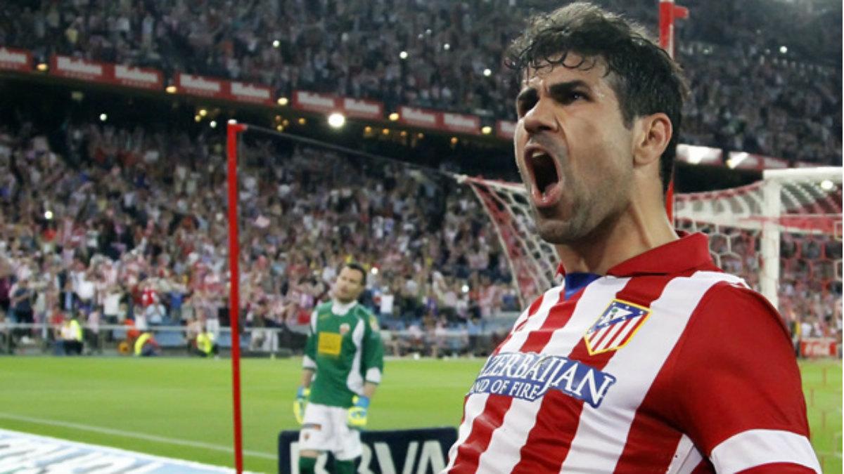 Diego Costa celebra un gol con el Atlético. (atleticodemadrid.com)