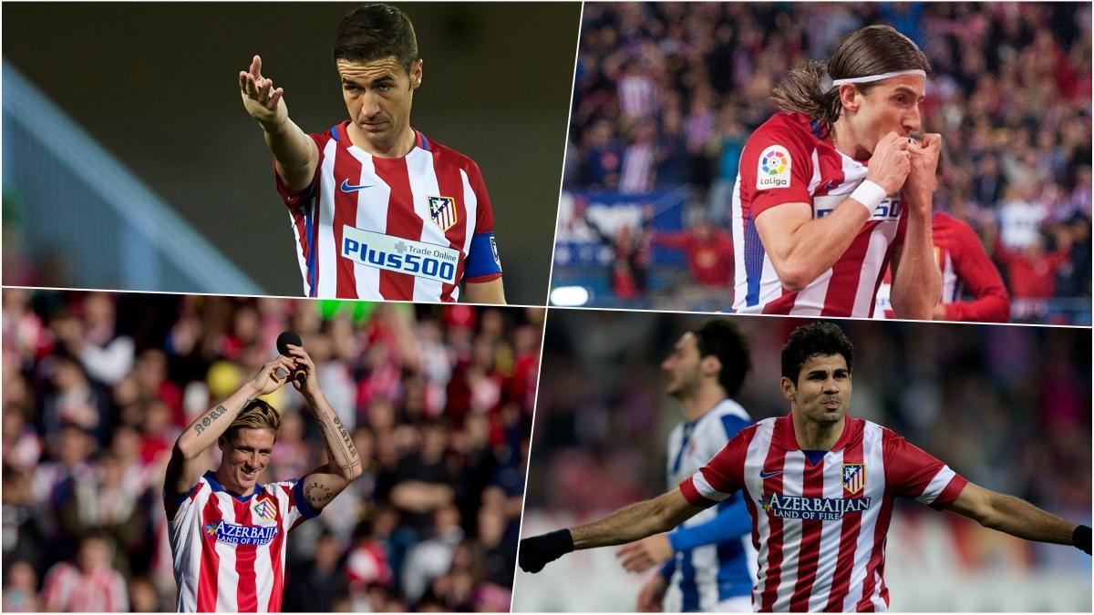 Gabi, Filipe Luis, Fernando Torres y Diego Costa