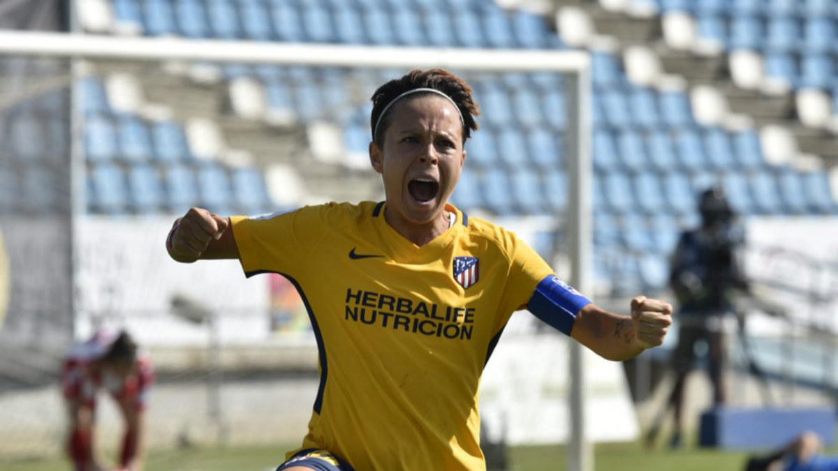 Amanda anotó el primer gol del Atlético ante el Santa Teresa. (Laliga)