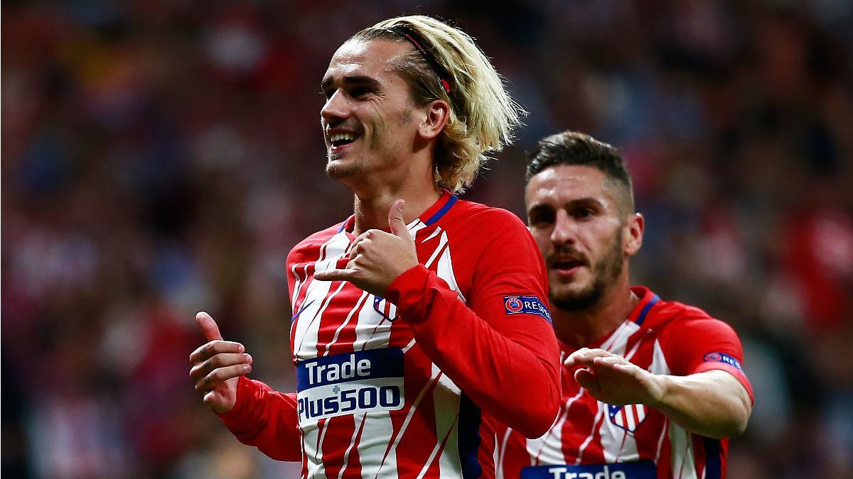 Griezmann celebra un gol con el Atlético en la Champions. (Getty)