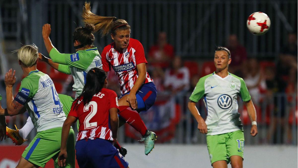 El Atlético Femenino no pudo con el Wolfsburgo. (atleticodemadrid.com)