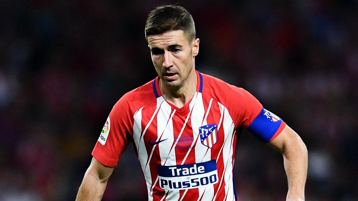 Gabi, en un partido con el Atlético. (AFP)