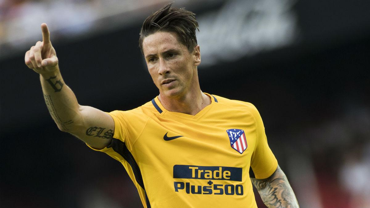 Fernando Torres, en un partido en Mestalla. (AFP)