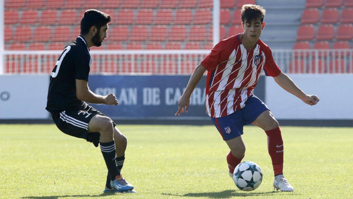 El Atlético juvenil no puede con el Qarabag. (atleticodemadrid.com)