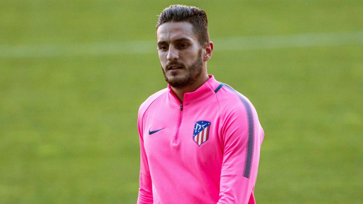 Koke durante un entrenamiento con el Atlético. (EFE)
