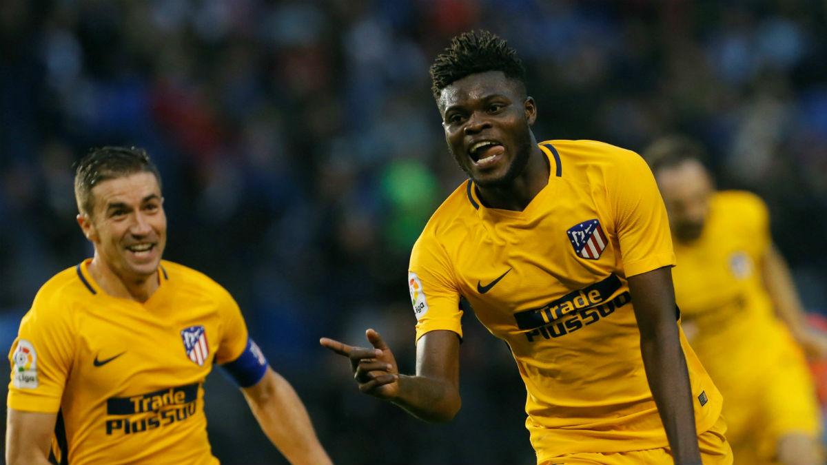 Thomas celebra su gol ante el Deportivo. (EFE)