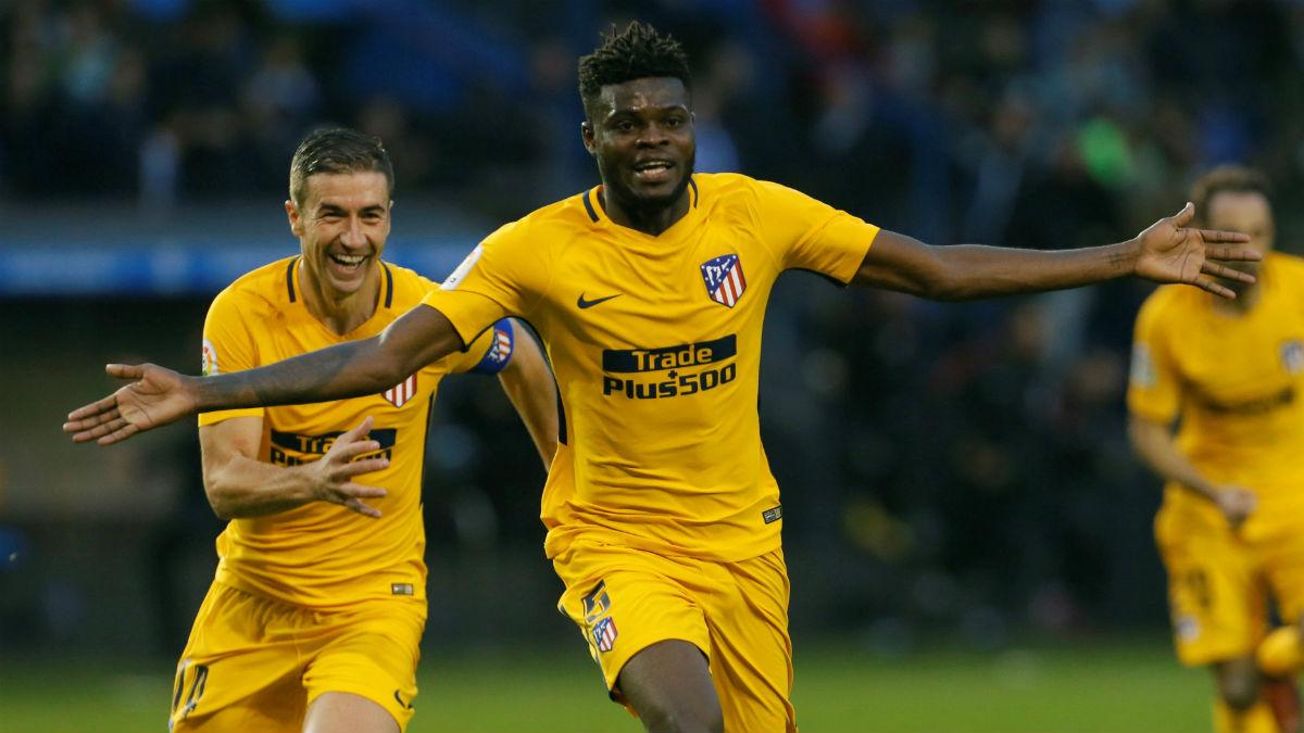 Thomas anotó el gol de la victoria en Riazor. (EFE)