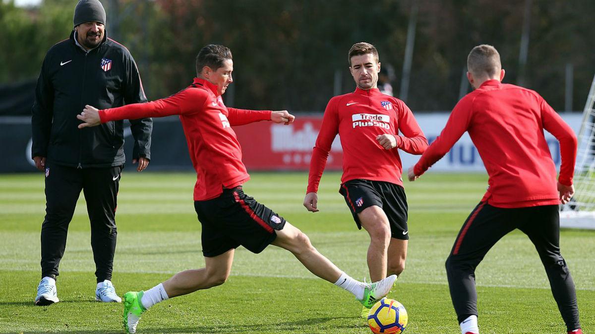 Torres durante el entrenamiento de este miércoles. (atleticodemadrid.com)