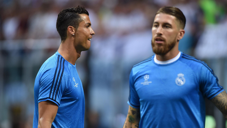 Cristiano Ronaldo y Sergio Ramos, calentando antes de un encuentro (Getty)