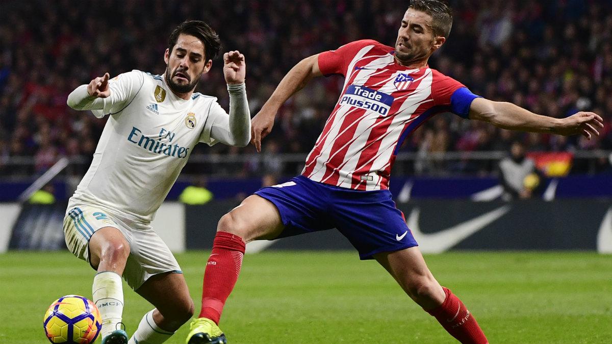 Atlético y Real Madrid se quedaron a cero en el Wanda. (AFP)