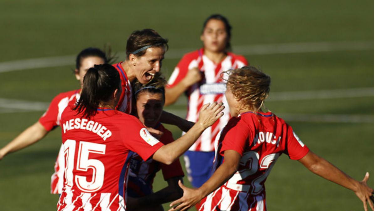 Las jugadoras del Atlético celebran un gol ante el Betis. (laliga)