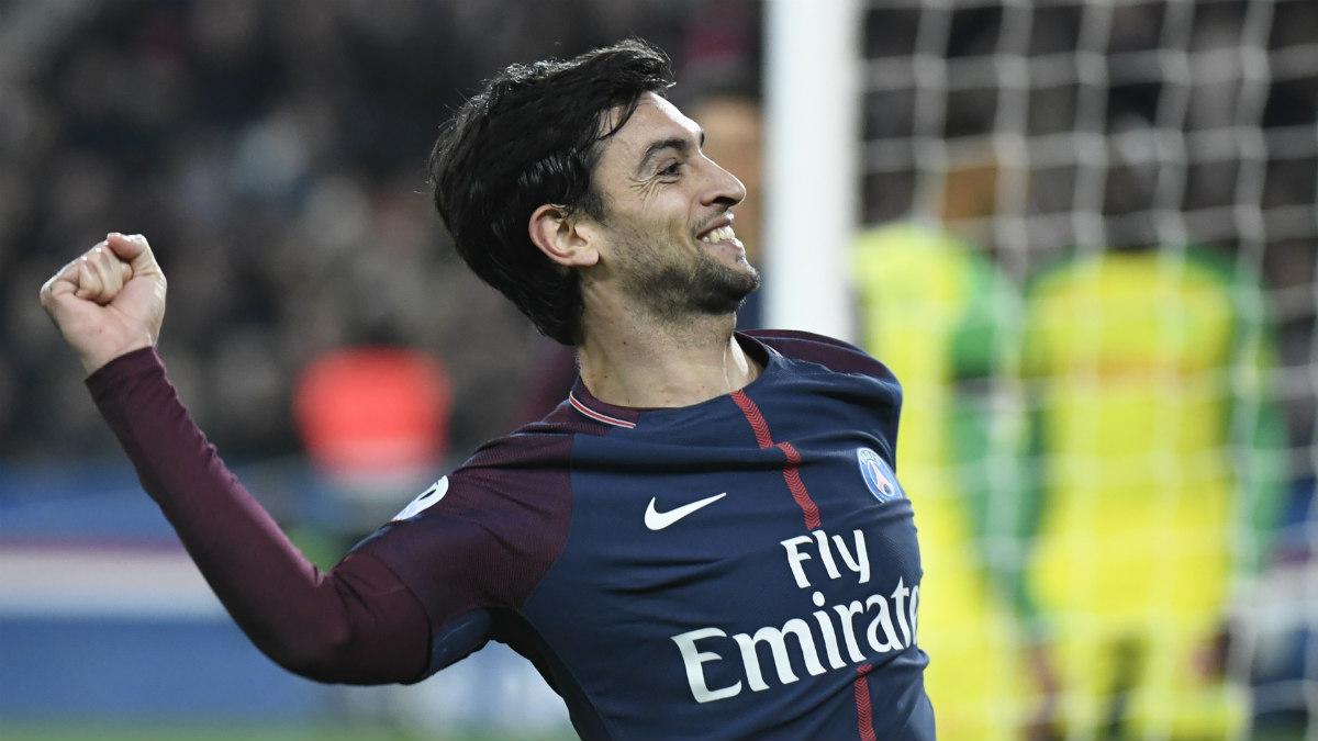 Javier Pastore celebra un gol con el PSG. (AFP)