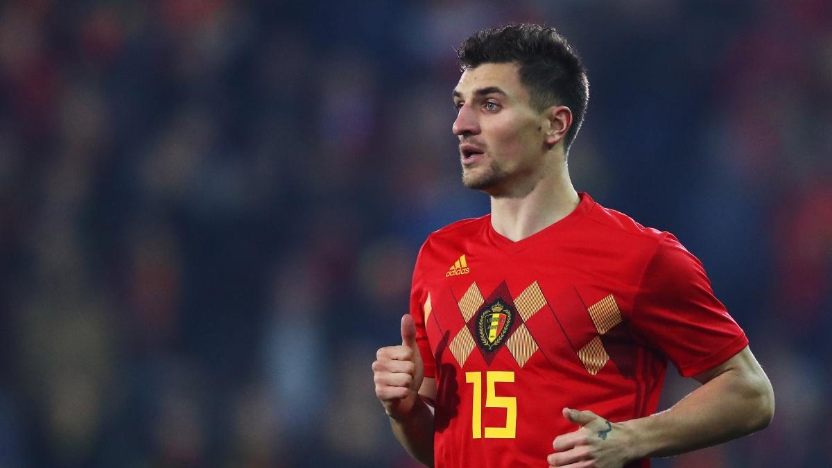 Thomas Meunier, durante un encuentro con la selección de Bélgica (Getty)