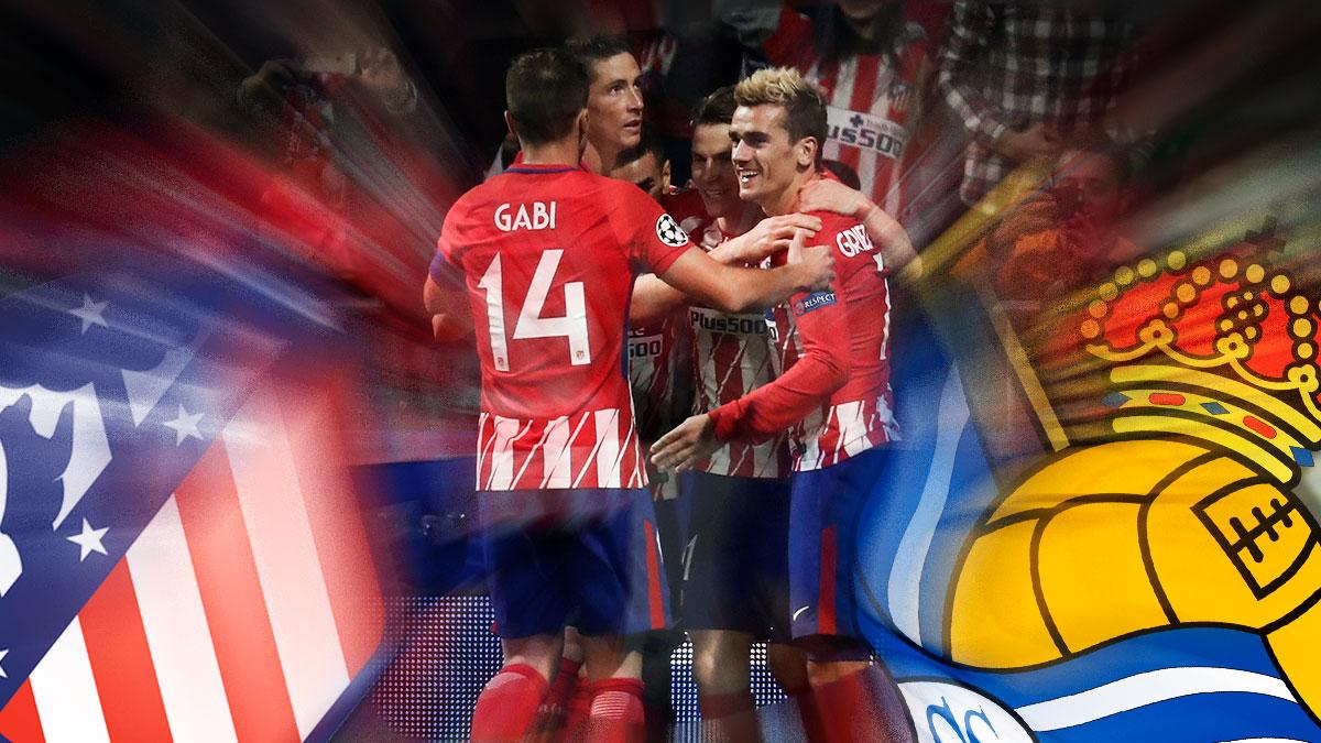 El Atlético de Madrid se la juega ante la Real Sociedad.