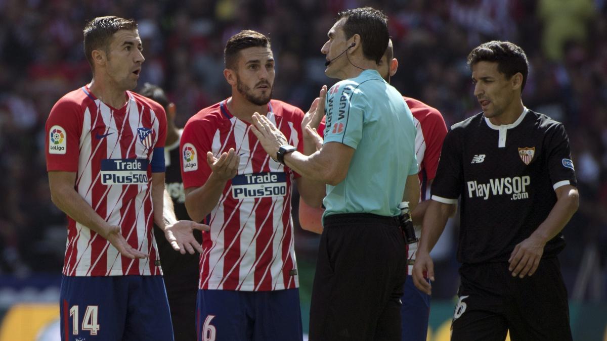 El Atlético, único equipo sin penaltis a favor y al que más le han pitado en contra