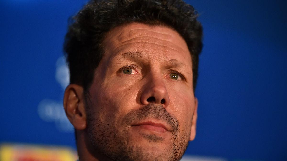 Simeone durante rueda de prensa. (AFP)