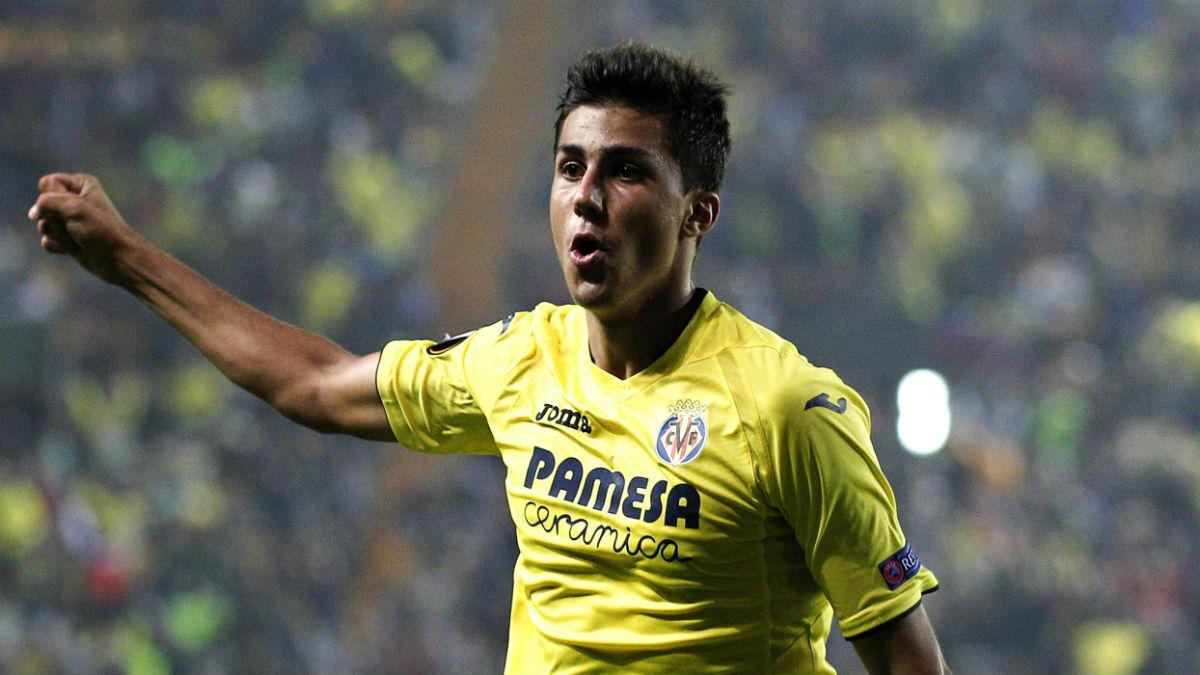 Rodri celebra un gol con el Villarreal. (AFP)