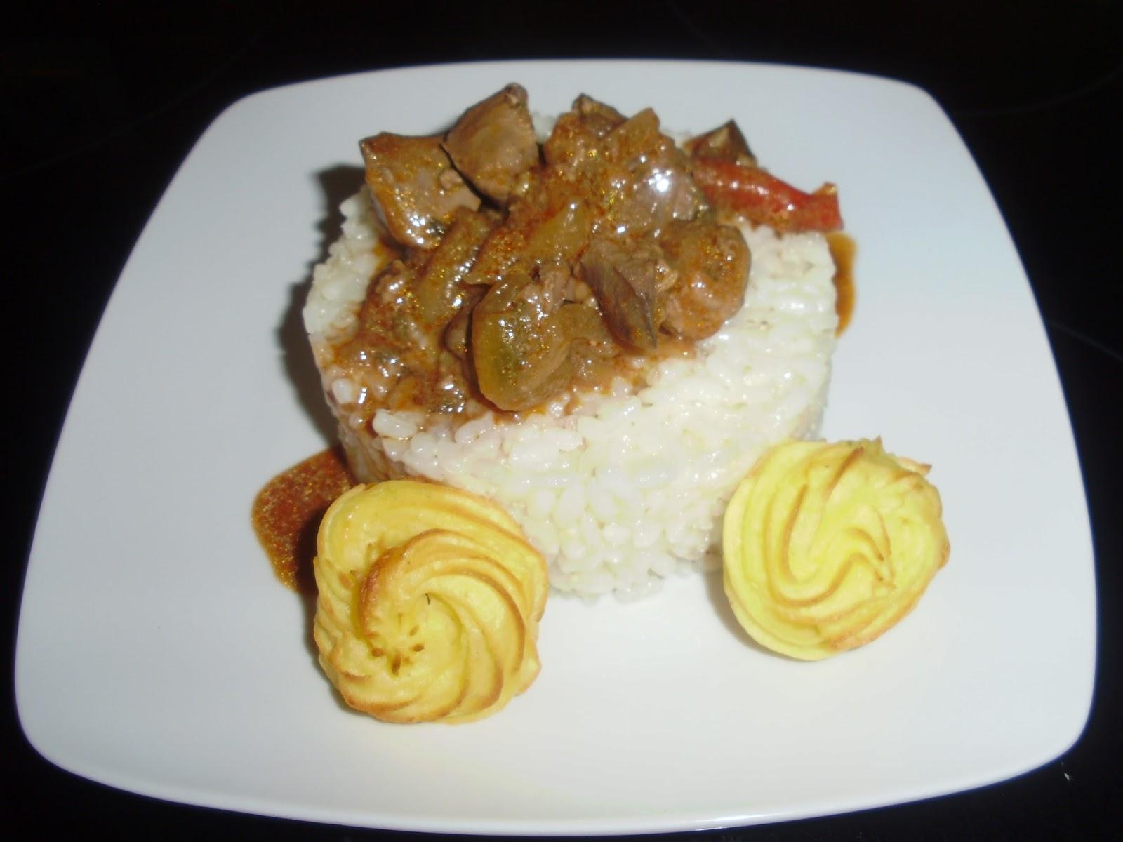 arroz con higaditos