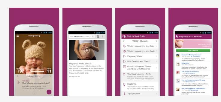 3 aplicaciones para afrontar el embarazo