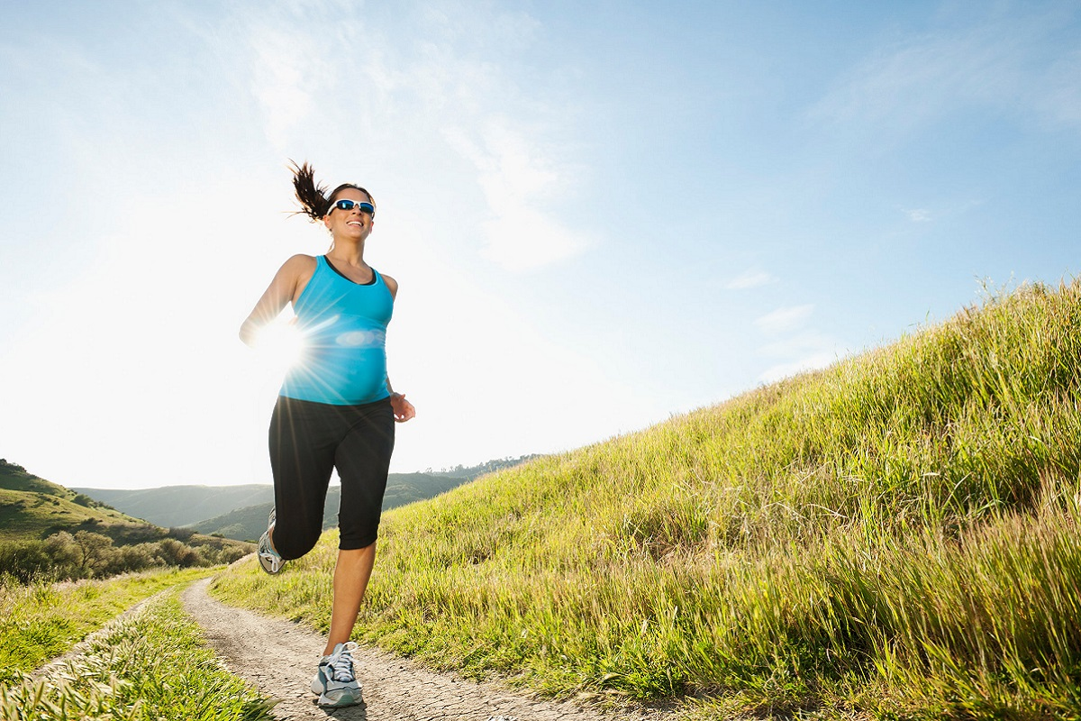 running-embarazada