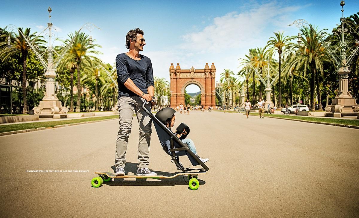 Longboardstroller de Quinny, tabla de skate + carrito de bebé
