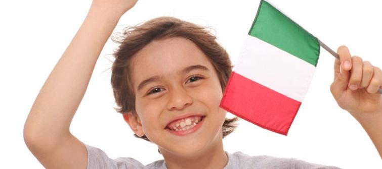 italiano-niño