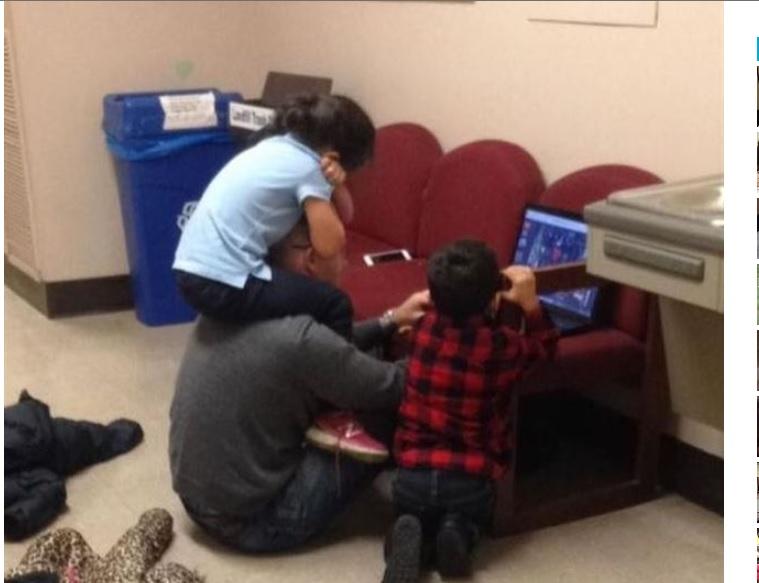Un profesor, niñero de los hijos de una alumna durante un examen