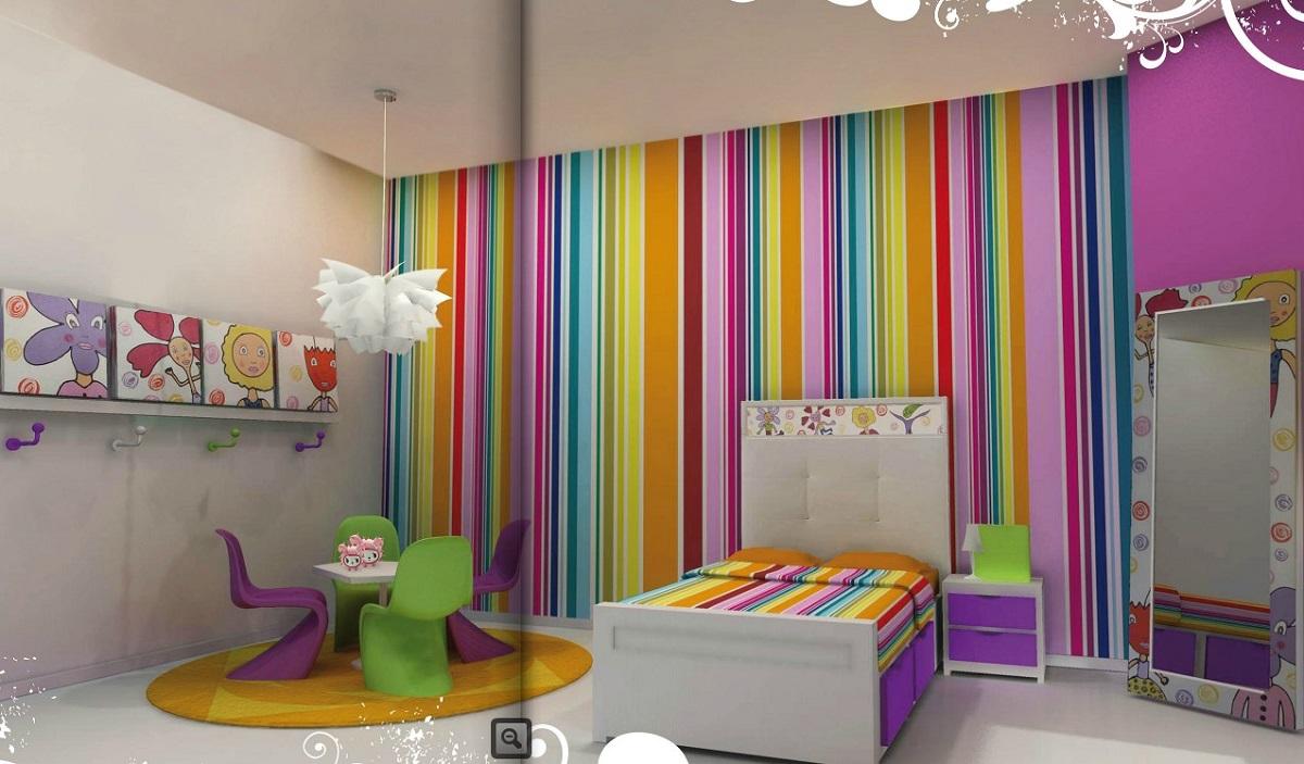 7 ventajas de usar el papel pintado en la habitación de los niños