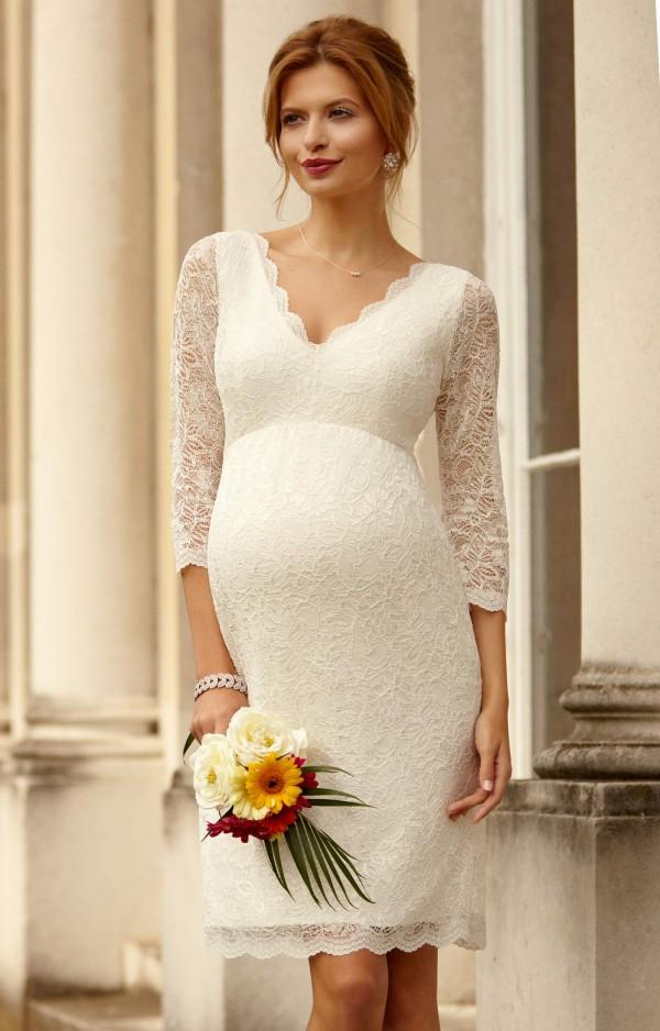 Vestidos de novia para embarazadas bajitas