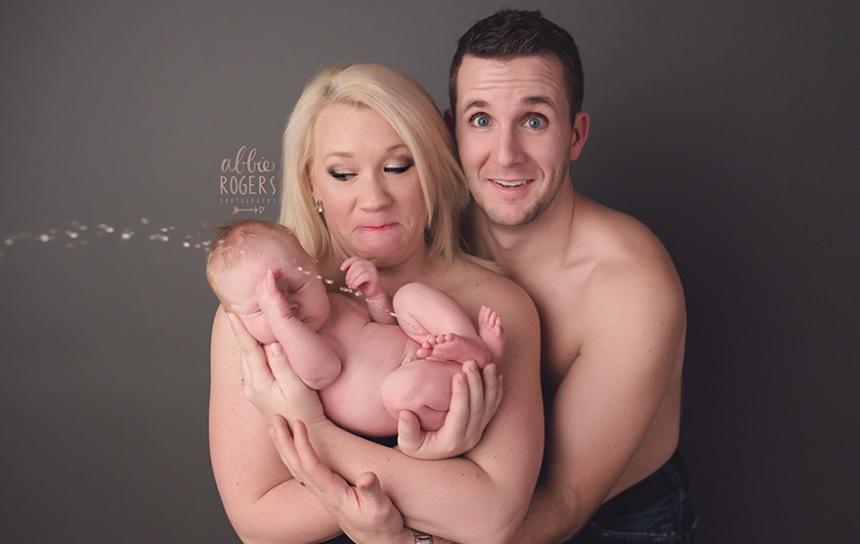 Un bebé se hace pipí en una sesión fotográfica y se convierte en viral