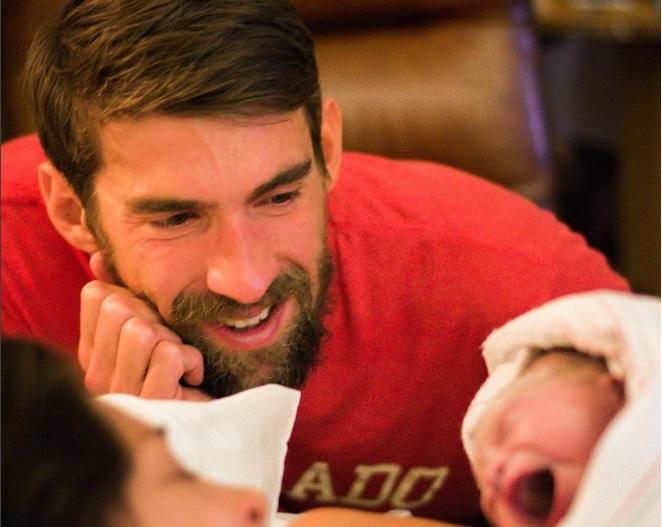 El nadador Michael Phelps se convierte en papá
