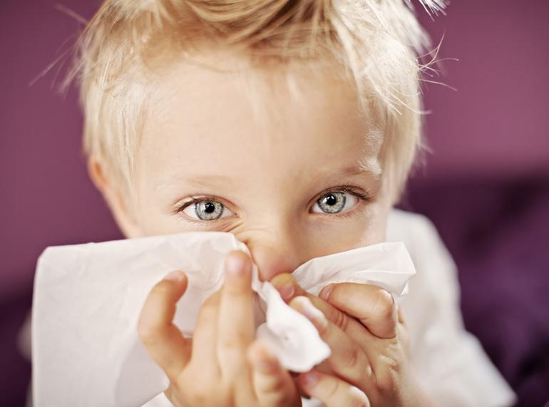 Las infecciones en las vías respiratorias altas de los niños