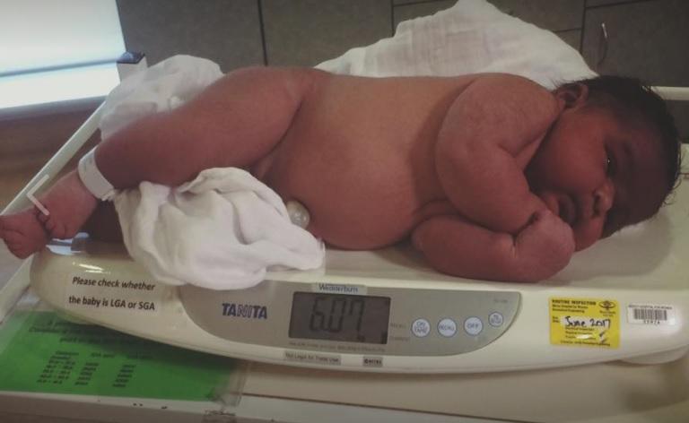 Bebé de 6 kilos
