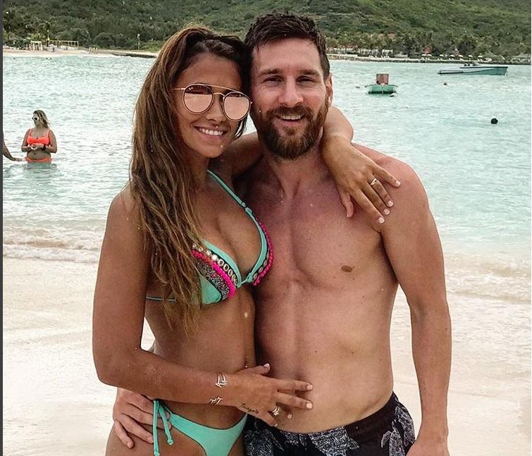 Messi junto a su esposa, Antonella Roccuzzo